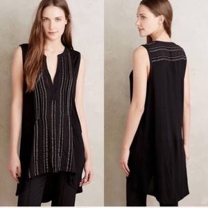 Anthropologie Deletta Shimmering Eve Tunic Top